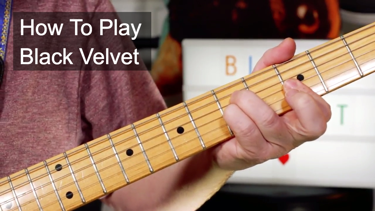 Black Velvet Alannah Myles Guitar Lesson Youtube