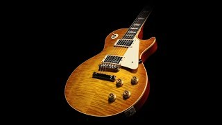 Hard rock backing track in A