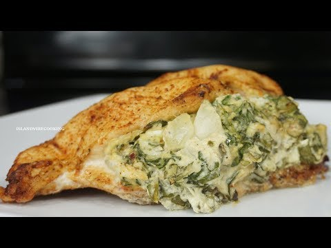 Stuffed Chicken Breast With Spinach And Cream Cheese