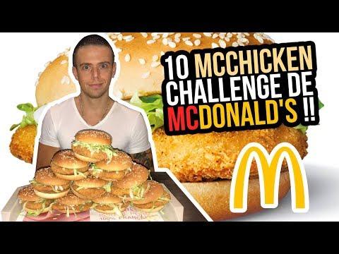 10 McCHICKEN CHALLENGE de McDONALD'S !!