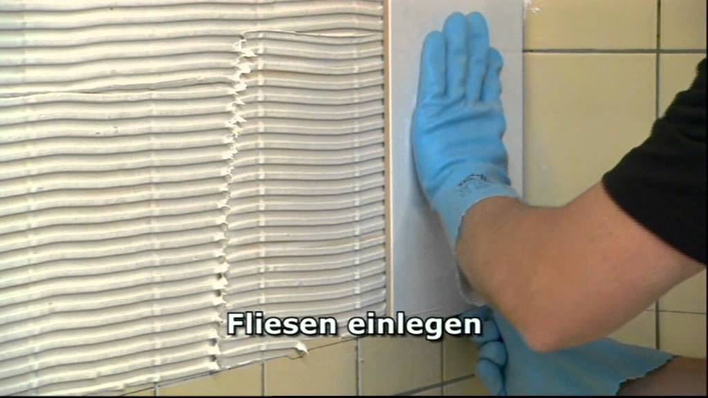 Fliese auf Fliese verlegen - YouTube