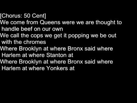 50 Cent - Queens, NY feat. Paris   Lyrics On Screen