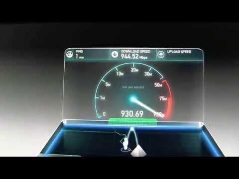 INTERNET SPEED TEST  Time Warner 50 Mbs vs Google 1 Gig  Speed Test