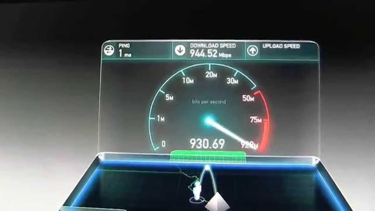 INTERNET SPEED TEST Time Warner 50 Mbs vs Google 1 Gig ...