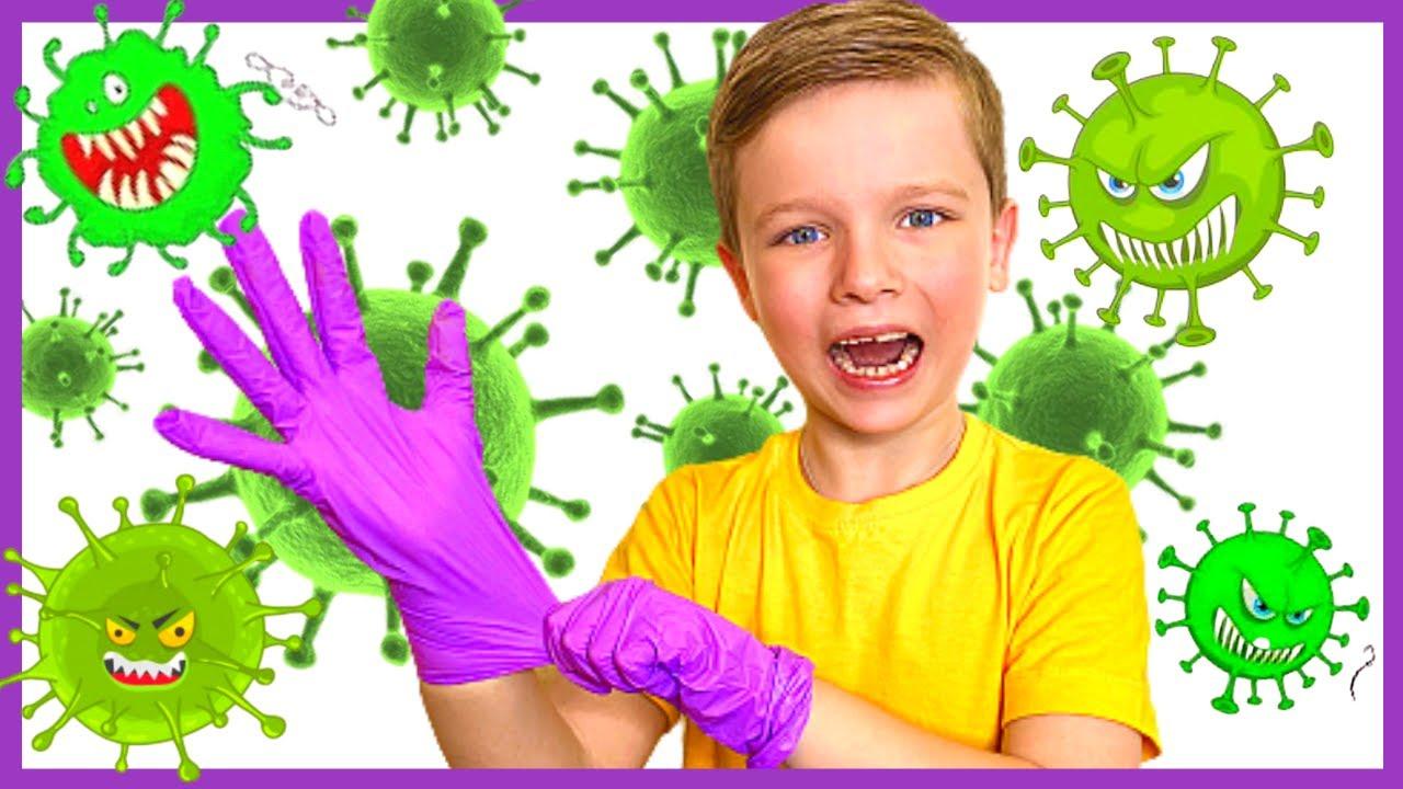 Андрей и детские истории про вирусы | Правила поведения для детей