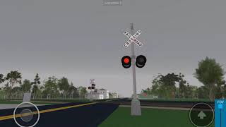NS 6194 intermodal train passing through old Trinity RD, Railroad Crossing in Trinity Alabama Roblox