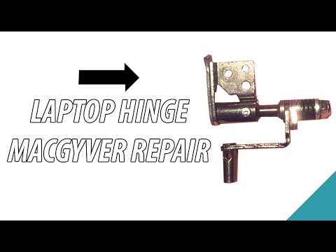 Repairing laptop screen hinges using nuts and bolts