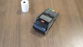 How To Replace the Receipt Paper Roll on an Ingenico iWL220 Telium Terminal - Helcim