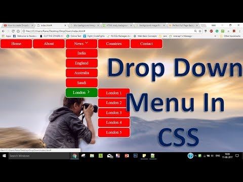 Dropdown Menu With Submenus In Html And CSS