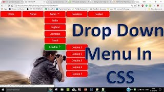 Create dropdown menu with submenus in Html and CSS | Navigation Bar | Tech Talk Tricks
