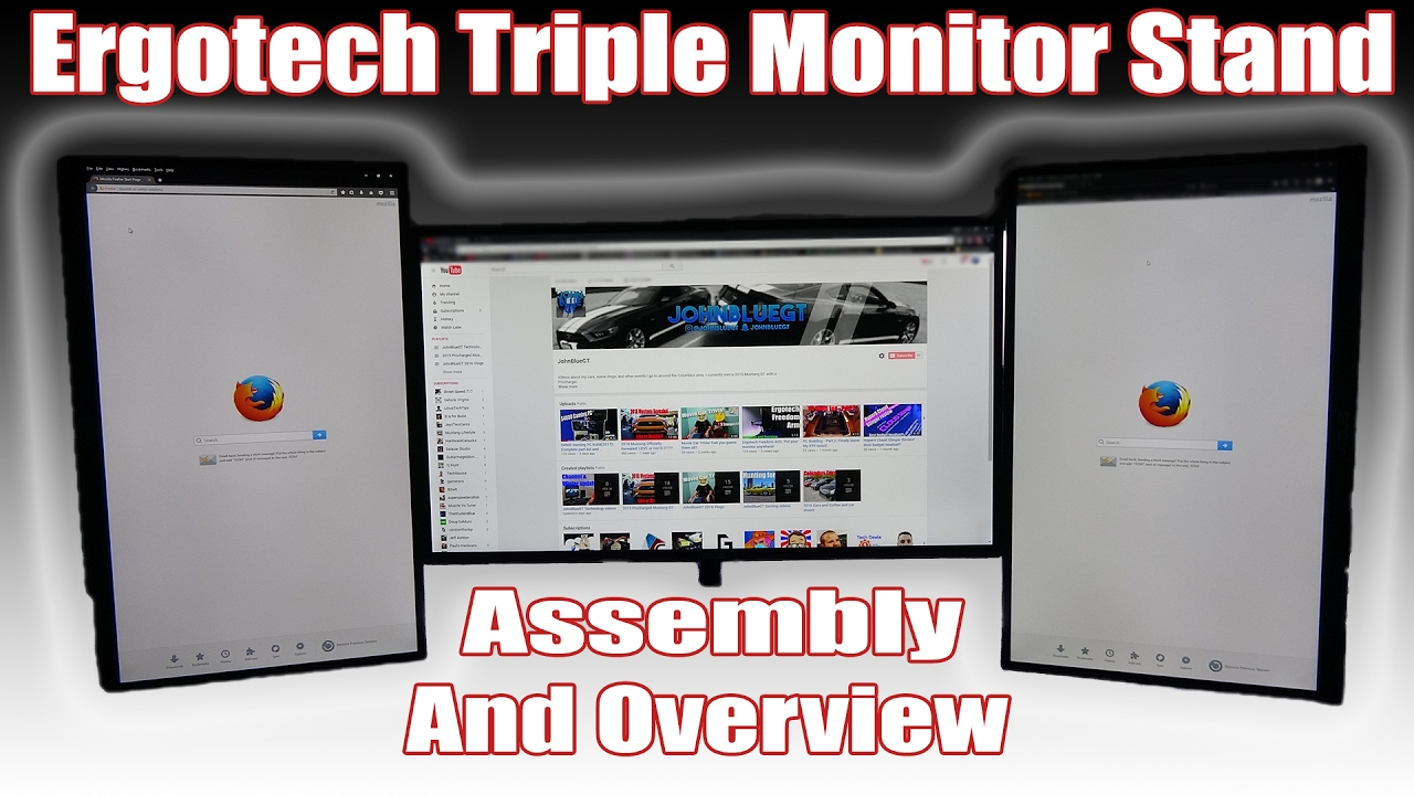 ergotech triple monitor stand mount all the monitors