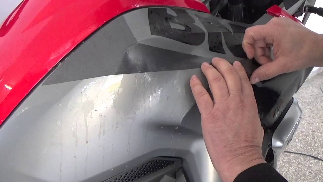 HOW TO: BMW R1200GSLC Alive sticker kit - YouTube