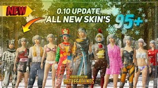 Over 95 NEW SKINS Revealed in PUBG Mobile 0.10 Global BETA!! | DerekG & HydraBeast
