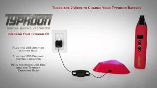 how to charge the battery on the tsunami typhoon vaporizer
