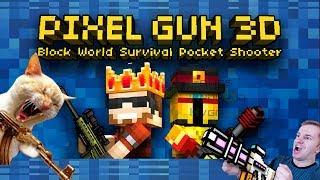 №478: PIXEL GUN 3D: стрелялки онлайн в стиле МАЙНКРАФТ(Minecraft) видео игра для детей