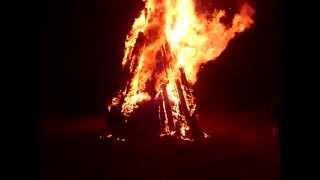 Gros feu du 18 août 2012 chez les Mathieu/ Épluchette de blé d