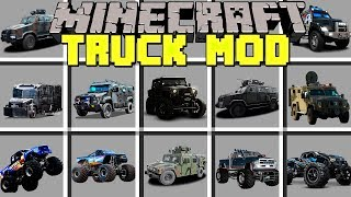 Minecraft TRUCK MOD - SWAT TRUCKS, ARMORED VEHICLES & MORE! - Modded Mini-Game