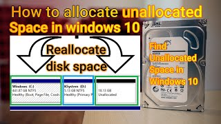 How to allocate unall๐cated space in windows 10