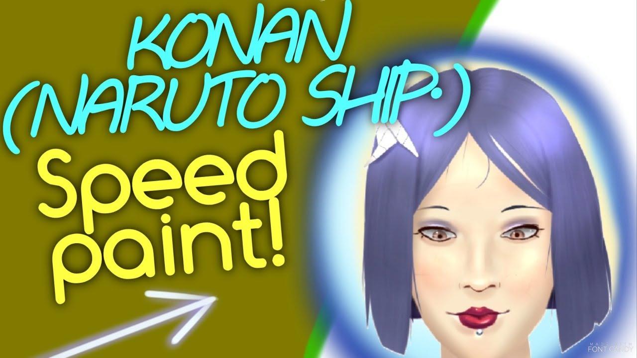 Speed Drawing Konan Portrait (Naruto Shippuden) - YouTube