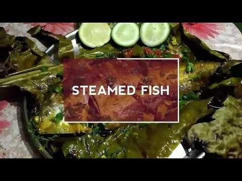 STEAMED FISH IN BANANA LEAF VERY HEALTHY AND EASY TO MAKE  LIKE ROASTED
