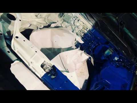 painting Honda Civic engine bay / cleaning