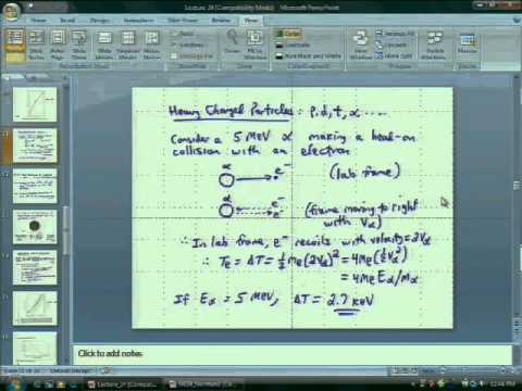 Lecture 26  Interactions of Radiation with Matter