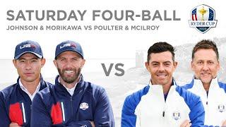Dustin Johnson \u0026 Collin Morikawa defeat Ian Poulter \u0026 Rory McIlroy | Four-ball 2020 Ryder Cup