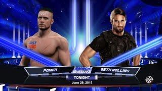 WWE 2K15. POMEH vs SETH ROLLINS