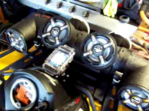 Atv Audiopipe On Canam Outlander 800r Youtube