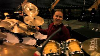 Jon Fishman warms up and goes over his Phish touring rig.