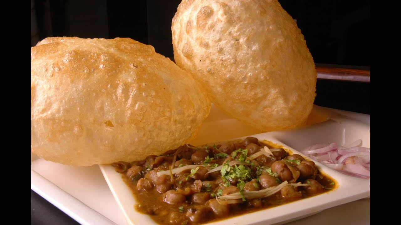 Mouthwatering Chole Bhature North Indian Street Food Food
