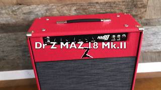 Dr. Z MAZ 18 Mk.II Official Demo with Dave Baker