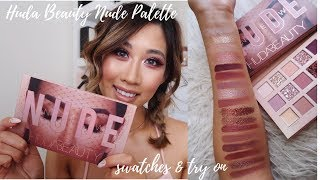 HUDA BEAUTY NEW NUDE EYESHADOW PALETTE // IS IT WORTH IT?!