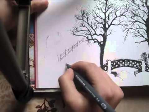 Cum Desenezi Un Peisaj De Iarna In Tus