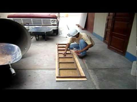 Molde artesanal de losetas youtube - Moldes de cemento ...