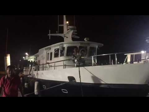 Ricky Tan's boat arrives at the Marina Country Club