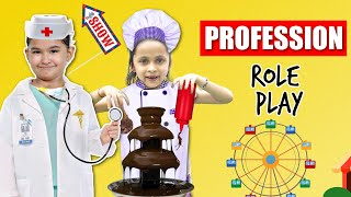 At KidZania Kids ROLE-PLAY Many Professions - 5 Million Celebration | ToyStars