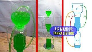 Air Mancur Mini Tanpa Listrik dari Botol Plastik Bekas dan Cara Membuatnya