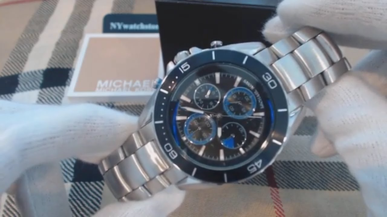 89474c2219a1 Men s Michael Kors Jetmaster Stainless Steel Chronograph Watch MK8462