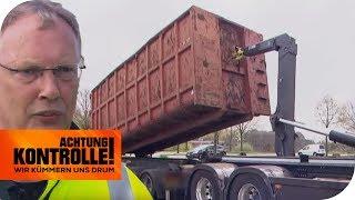 Verdächtiger Mülltransporter! Wird hier illegal Müll transportiert? | Achtung Kontrolle | kabel eins