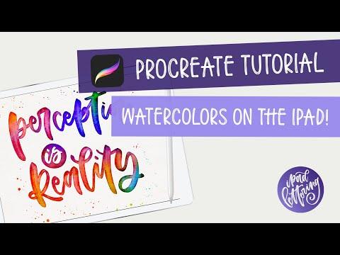 Procreate 4 Watercolor Tutorial