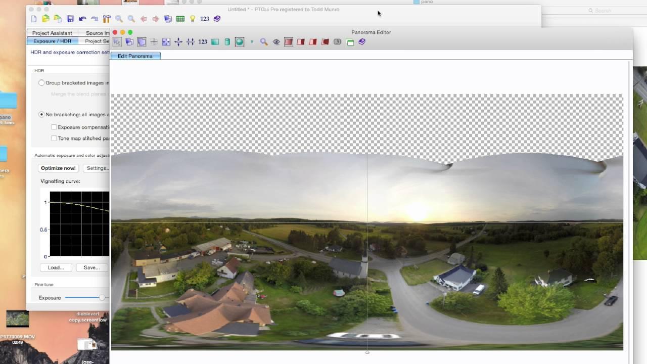 360 Aerial Panorama with Phantom GoPro and PtGui