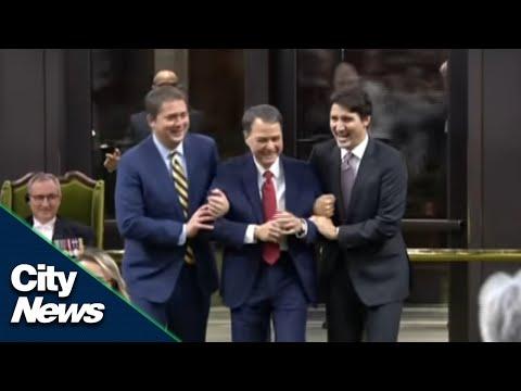 Trudeau, Scheer take