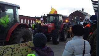 The Frack Stops Here - Lancashire Tractor Convoy