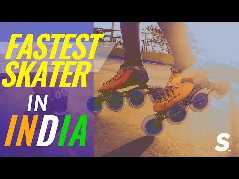 India's FASTEST Speed Skater! | Nikhilesh Tabhane