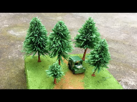 ABC TV | How To Make Miniature Pine Tree From Crepe Paper – Craft Tutorial