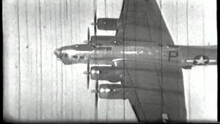 B17 WW2 this is a very rare film not seen since 1944 B17s  on a mission to Germany, 92ND Bomb Group.