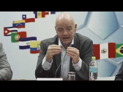 Cumbre Ejecutiva FIFA | Rueda de Prensa en Lima - Gianni Infantino, Presidente FIFA