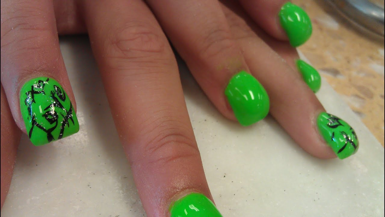 HOW TO BLOW GREEN BUBBLE NAILS PART 3 - YouTube