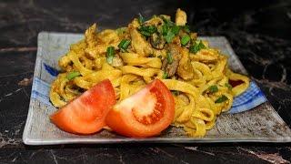 Домашняя лапша с курицей, грибами и овощами(Рецепт лапши, очень похожий на китайскую лапшу в коробочках. Потрясающее сытное вкусное и очень ароматное..., 2016-02-04T08:25:19.000Z)